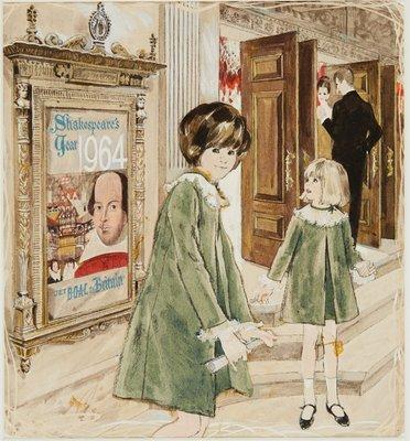 Two Girls in Velvet Dresses, Shakespeare Theater