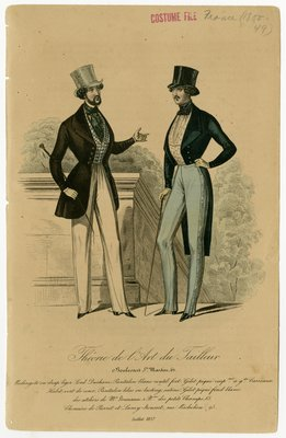 Two Men in Top Hats with Canes