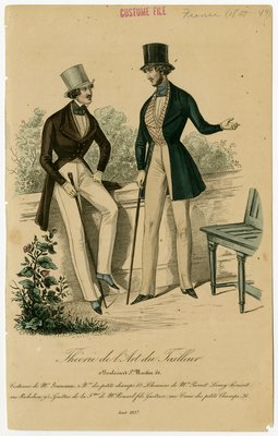 Two Men with Patterned Waistcoats