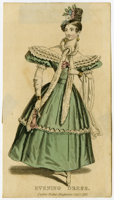 Evening Dress with Beret Sleeves