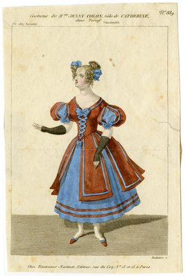 Costume de Mademoiselle Jenny Colon, rôle de Catherine dans Turiaf
