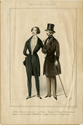 Men in Coats with Top Hats