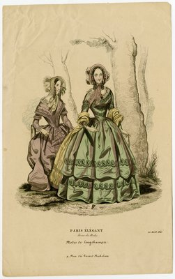 Two Women Walking through the Woods