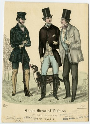 Three Men and Dog out Hunting