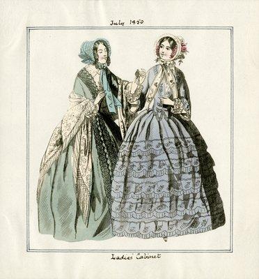 Two Women in July Fashions