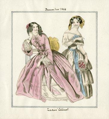 Two Women in December Fashions