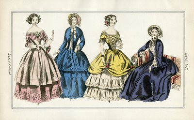 Four Ladies in April Fashions