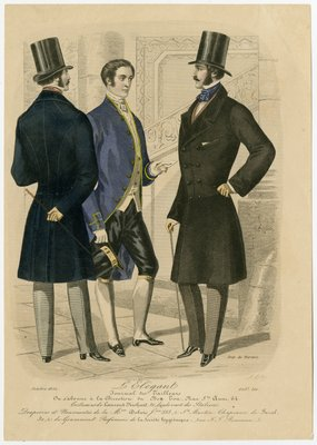 Footman and Two Gentlemen