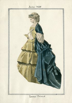 Woman in Flounced Dress