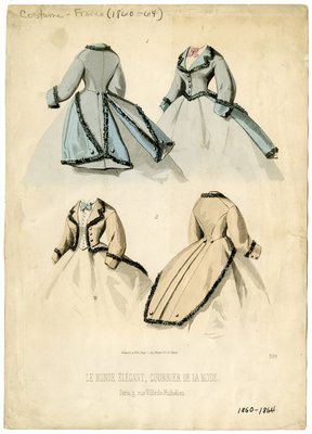 Illustration of Two Jacket Bodices