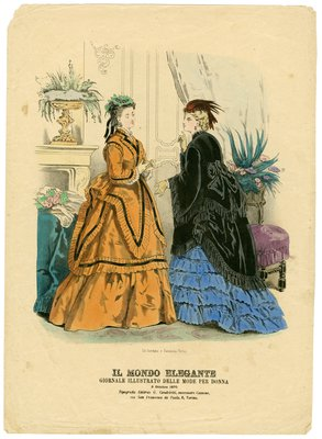 Two Women in October Fashions Talking