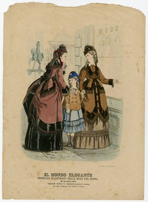 Two Women and a Girl Looking at a Shop Window