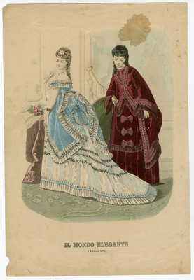 Two Women Indoors, Wearing February Fashions