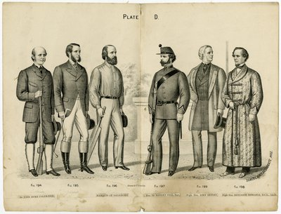 Six Men in Various Attire