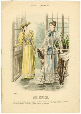 Two Women in October Fashions