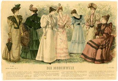 Seven Women in June Fashions