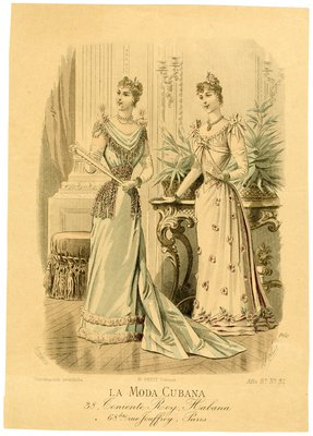 Two Women in Ballroom Gowns