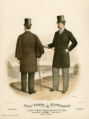 Two Men in Coats Overlooking a River