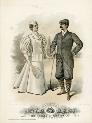 Man and Woman Dressed for Sports