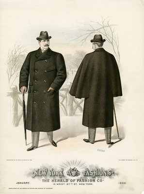 Two Men in Overcoats and Homburg Hats