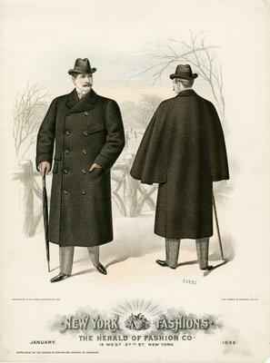 Two Men in Overcoats and Homburg Hats