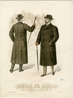 Two Men Hailing a Hansom Cab