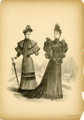Two Women Going for Wintertime Walk