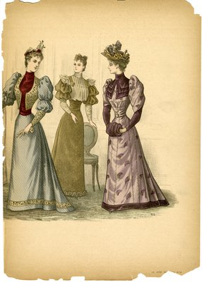Three Women Assembled Around An Oval-Backed Chair