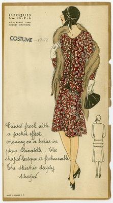 Woman in Drop-Waist Dress