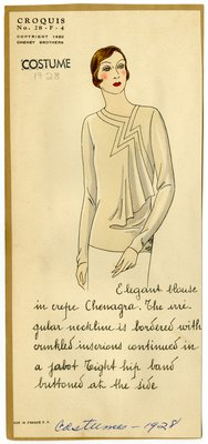 Woman in Crepe Blouse with Hip Buttons