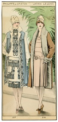 Two Women in Hats and Drop-Waist Dresses