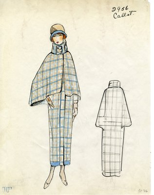 Original sketch from A. Beller & Co. of a Callot Soeurs design, Winter 1923
