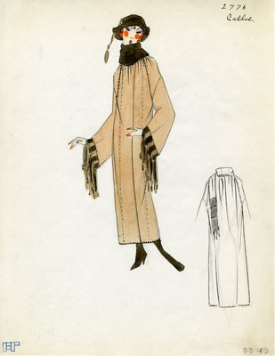 Original sketch from A. Beller & Co. of a Callot Soeurs design, Spring 1923