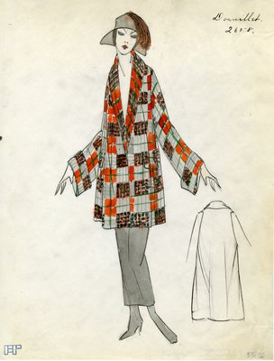 Original sketch from A. Beller & Co. of Doeuillet design, Spring 1923