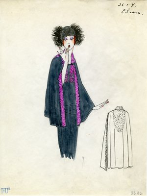 Original sketch from A. Beller & Co. of Elaine design, Spring 1923