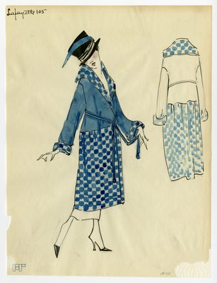 Original sketch from A. Beller & Co. of a Lafayette design, circa 1918-1920