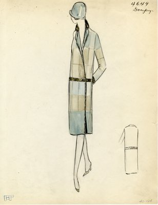 Original sketch from A. Beller & Co. of a Goupy design, Winter 1926