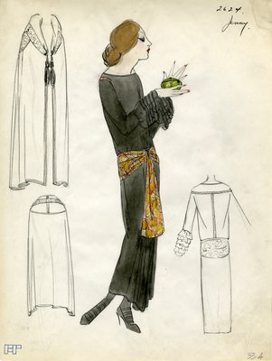 Original sketch from A. Beller & Co. of a Jenny design, Spring 1923