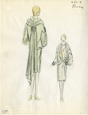 Original sketch from A. Beller & Co. of a Paray design, Winter 1928