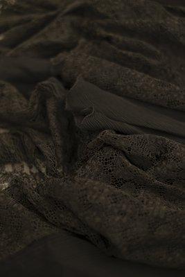 Black chiffon dress with lace, textile detail, 1929