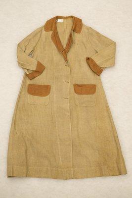 Brown two-tone linen blazer, front view, 1915