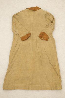Brown two-tone linen blazer, back view, 1915