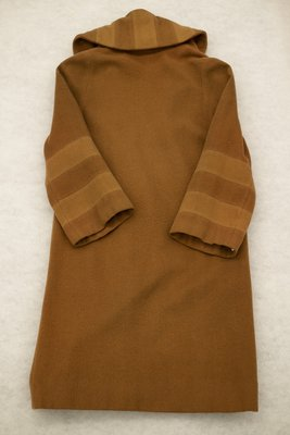 Brown wool coat, back view, 1920
