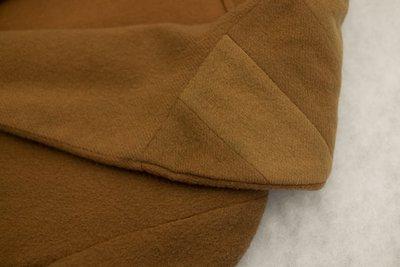 Brown wool coat, collar detail, 1920