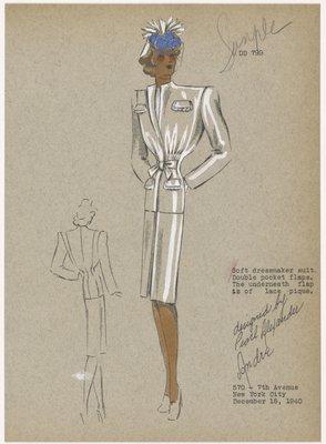 Soft dressmaker suit.
