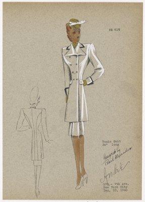 """Tunic suit 34"""" long."""