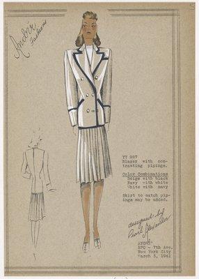 Blazer and skirt combination.