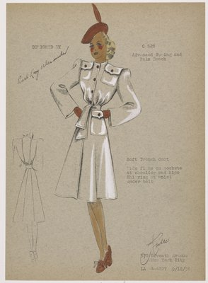 Soft trench coat.
