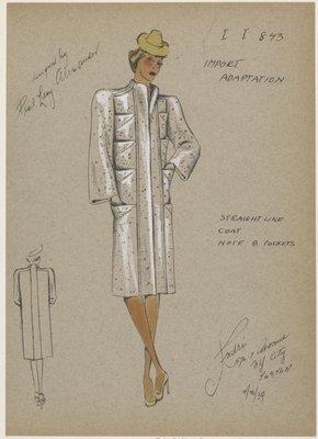Straight line coat.