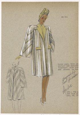 Loose coat.